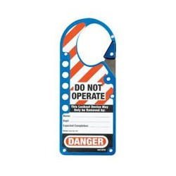 Master Lock 427BLU Labeled Snap-on OSHA Safety Lockout Hasp (Blue)