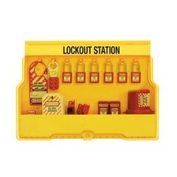 Master Lock S1850E410 OSHA Lockout Station with Electrical Lockout Assortment