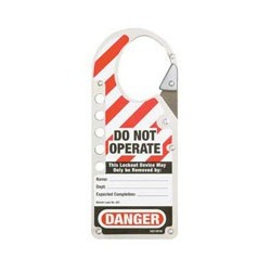 Master Lock 427CLR Labeled Snap-on OSHA Safety Lockout Hasp (Silver)