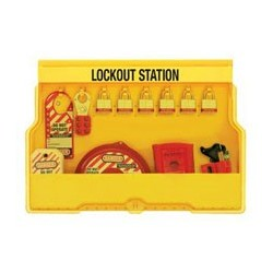 Master Lock S1850V3 OSHA Lockout Station with Valve Lockout Assortment