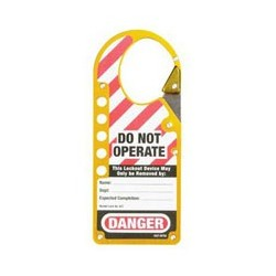 Master Lock 427YLW Labeled Snap-on OSHA Safety Lockout Hasp (Yellow)