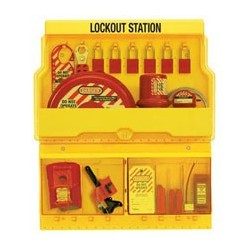 Master Lock S1900VE1106 OSHA Deluxe Lockout Station with Valve and Electrical Lockout Assortment