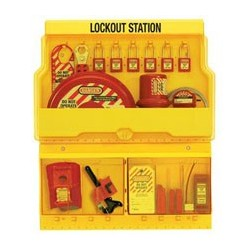 Master Lock S1900VE410 OSHA Deluxe Lockout Station with Valve and Electrical Lockout Assortment