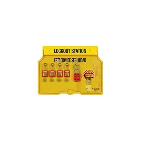 Master Lock 1482BP410ES Bilingual English/Spanish Padlock Station