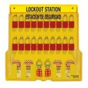 Master Lock 1484BP1106ES Bilingual English/Spanish Padlock Station