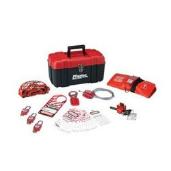 Master Lock 1457V410KA - Portable Personal Lockout Kit with Plastic Locks - Valve