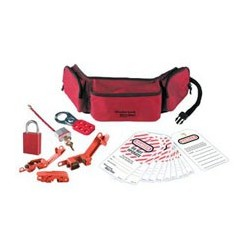 Master Lock 1456E1106 - Portable Personal Lockout Pouch with Aluminum Locks - Electrical