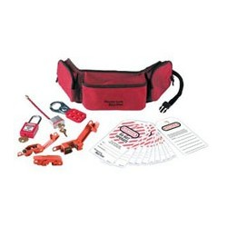 Master Lock 1456E410 - Portable Personal Lockout Pouch with Plastic Locks - Electrical