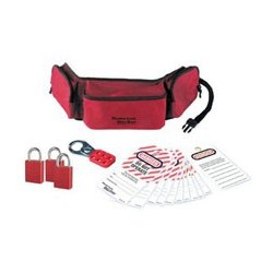 Master Lock 1456P1106KA - Portable Personal Lockout Pouch with Aluminum Locks