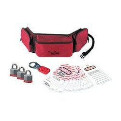 Master Lock 1456P3KA - Portable Personal Lockout Pouch Kit with Laminated Steel Locks