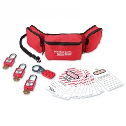 Master Lock 1456P410KA - Portable Lockout Pouch with Plastic Locks