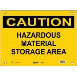 Master Lock S7200, S7201, S7202 CAUTION Sign - HAZARDOUS MATERIAL STORAGE AREA