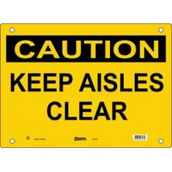 Master Lock S7700, S7701, S7702 CAUTION Sign - KEEP AISLES CLEAR