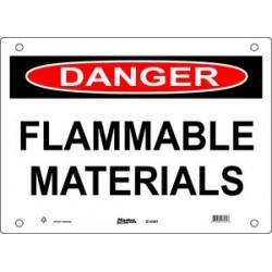 Master Lock S14300, S14301, S14302 DANGER Sign - FLAMMABLE MATERIALS