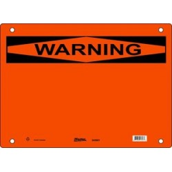 Master Lock S25000, S25001, S25002 WARNING Sign - BLANK