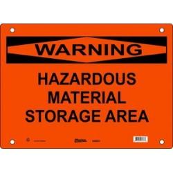 Master Lock S26650, S26651, S26652 WARNING Sign - HAZARDOUS MATERIAL STORAGE AREA