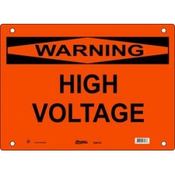 Master Lock S26750, S26751, S26752 Warning Sign - HIGH VOLTAGE