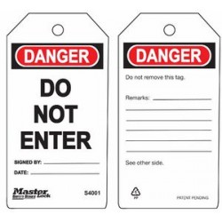 Master Lock S4001 Guardian Extreme Danger Tag - Do Not Enter
