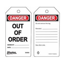 Master Lock S4005 Guardian Extreme Danger Tag - Out of Order