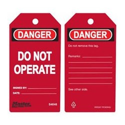 Master Lock S4046 Guardian Extreme Danger Tag - Do Not Operate