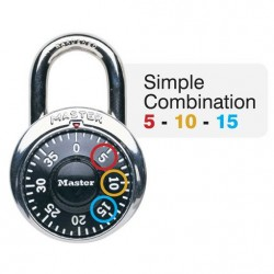 Master Lock 1525EZRC General Security Simple Combination Padlock