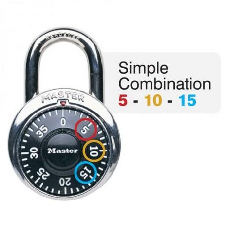 Master Lock 1525EZRC General Security Simple Combination Padlock
