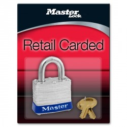 "Master Lock 3D Non-Rekeyable Laminated Steel Pin Tumbler Padlock 1-9/16"" (40mm)"