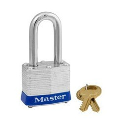 "Master Lock 3DLF Non-Rekeyable Laminated Steel Pin Tumbler Padlock 1-9/16"" (40mm)"