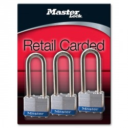 Master Lock 1TRILJ Non-Rekeyable Laminated Steel Pin Tumbler Padlock 1LJ 3-pack