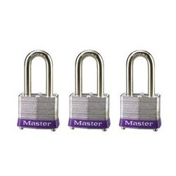 "Master Lock 3TRILF Non-Rekeyable Laminated Steel Pin Tumbler Padlock 1-9/16"" (40mm)"