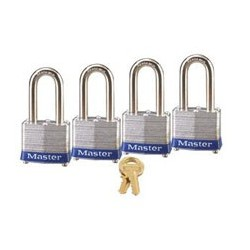 "Master Lock 3QLF  Non-Rekeyable Laminated Steel Pin Tumbler Padlock 1-9/16"" (40mm)"