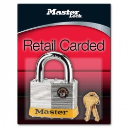 "Master Lock 15DPF Non-Rekeyable Laminated Steel Pin Tumbler Padlock 2-1/2"" (64mm)"