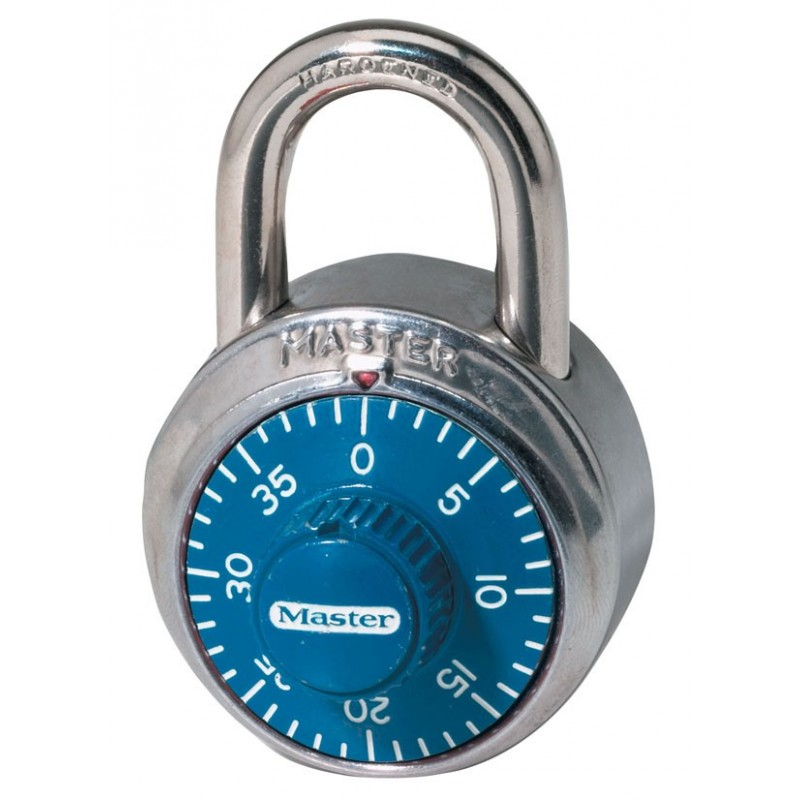 79f1a2179128 Master Lock 1506D Combination Padlock (Blue Dial)