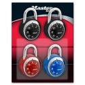 Master Lock 1503DCOV Combination Padlock (Assorted Dial Colors)