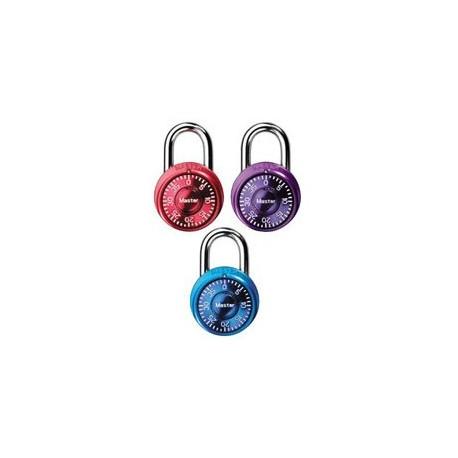 Master Lock 1533TRI Anodized Mini Metallic Combination Lock (3-pack)