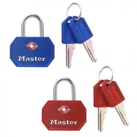 Master Lock 4681TBLR TSA-Accepted Luggage Padlock