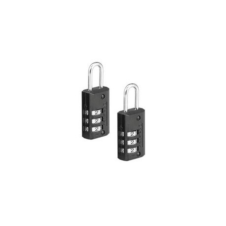 """646T - Combination Luggage Padlock 13/16"""" (20mm) 2-pack"""