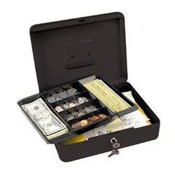 Master Lock 7111D Cash Box with 6 Compartment Tray