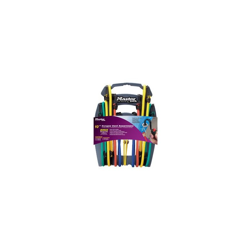 Twin Wire Bungee Organiser Pack of 10 Master Lock