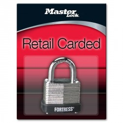 "Master Lock 1807D Fortress Series Laminated Steel Pin Tumbler Padlock, 1-1/8"" (29mm)"