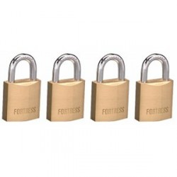 Master Lock 1820Q Fortress Series Solid Steel Padlock, 3/4""