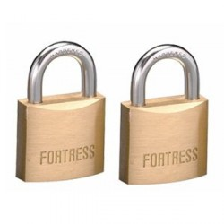 Master Lock 1830T Fortress Series Solid Brass Padlock 2-pack