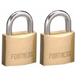 "Master Lock 1840T Fortress Series Solid Steel Padlock, 1-9/16"" (40mm) 2-pack"