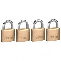 "Master Lock 1840Q Fortress Series Solid Steel Padlock, 1-9/16"" (40mm) 4-pack"