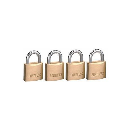 "Master Lock 1840Q  Fortress Series Solid Steel Padlock, 1-9/16"" (40mm) 4-pack"