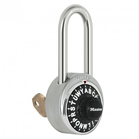 Master Lock 1585LH Letter Lock Combination Padlock with Key Control