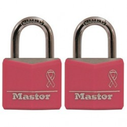 Master Lock 136T Breast Cancer Research Foundation Pink Ribbon Covered Solid Body Padlock