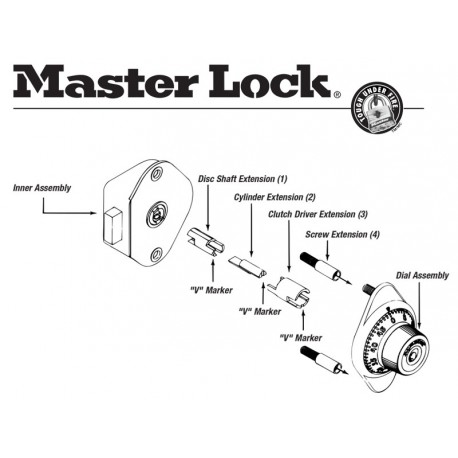 Master Lock Combination Locker Built in Model 1670 WITHOUT key Free Shipping
