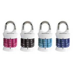 Master Lock 1535DWD Password Set-Your-Own Combination Padlock - White Body