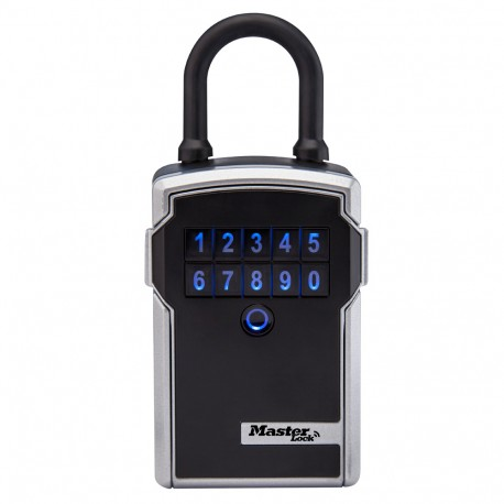 Master Lock 5440D/5441D Wide Electronic Bluetooth Wall Mount/Portable Lock Box 3-1/4in,  Silver & Black